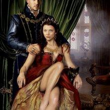 Jonathan Rhys Meyers con Natalie Dormer in un'immagine promo della seconda stagione del serial I Tudors - Scandali a corte