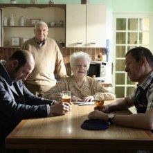 Kad Merad, Line Renaud e Dany Boon in una scena del film Giù al nord