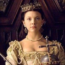 Natalie Dormer in una sequenza della seconda stagione della serie I Tudors - Scandali a Corte