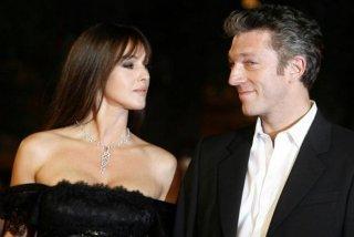 Monica Bellucci con suo marito Vincent Cassel al Festival del Film di Roma 2008