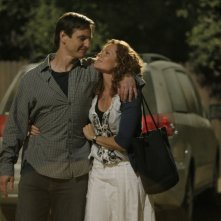 William Mapother e Robyn Lively durante una scena dell'episodio 'Paradise' della serie tv Criminal Minds