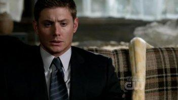 Jensen Ackles in un momento di terrore nell'episodio 'Yellow Fever' della quarta stagione di Supernatural