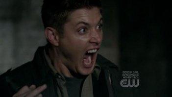 Jensen Ackles urla di terrore nell'episodio 'Yellow Fever' della quarta stagione di Supernatural