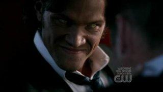 Sam, ritratto da Jared Padalecki, in versione demoniaca nell'episodio 'Yellow Fever' della serie Supernatural