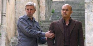 Alberto Sironi e Luca Zingaretti sul set della serie Il Commissario Montalbano