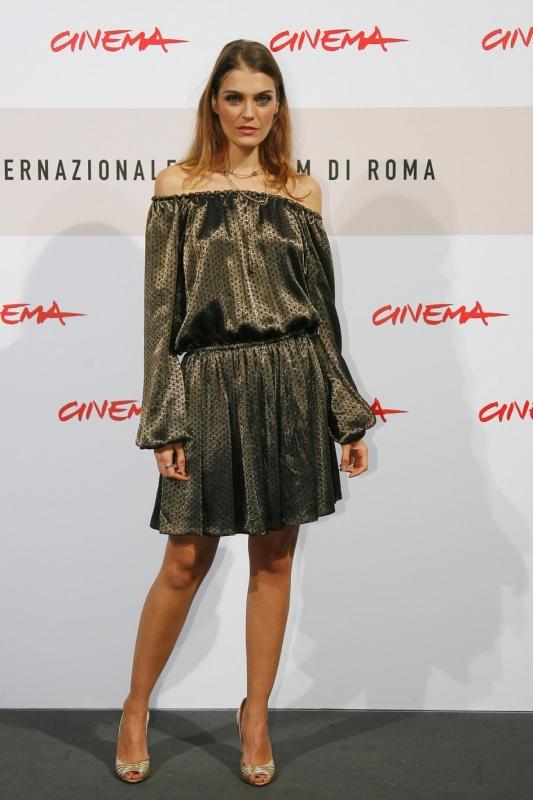Claudia Zanella Con Un Abito Di Gucci Al Festival Di Roma 2008 94335