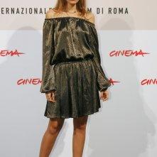 Claudia Zanella con un abito di Gucci al Festival di Roma 2008.