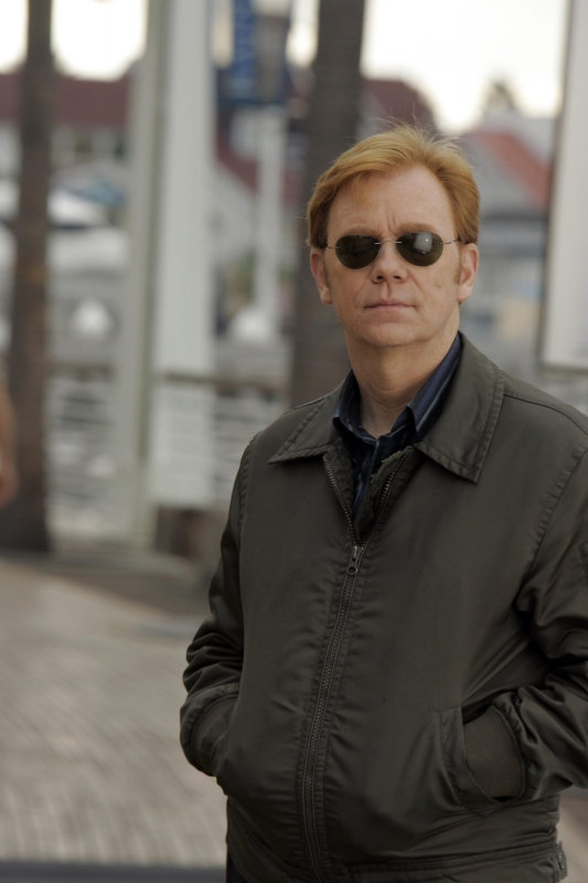 David Caruso Horatio Caine Durante Una Pausa Delle Riprese Di Csi Miami Nell Episodio Internal Affairs 94267