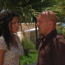 Luca Zingaretti con Serena Rossi in una scena dell'episodio Vampa d'Agosto della fiction Il commissario Montalbano