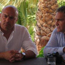Luca Zingaretti e Ciro Capano nell'episodio La vampa d'agosto de Il commissario Montalbano