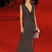 Un'elegante Claudia Zanella (vestita da Gucci) al Festival di Roma 2008.