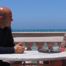 Luca Zingaretti ed Antonia Liskova nell'episodio La luna di carta de Il commissario Montalbano