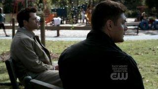 Misha Collins e Jensen Ackles nell'episodio ' It's the Great Pumpkin Sam Winchester ' della serie tv Supernatural