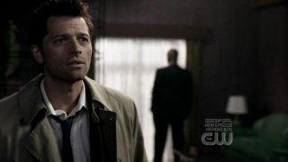 Misha Collins nel ruolo dell'angelo Castiel nell'episodio ' It's the Great Pumpkin Sam Winchester ' della serie tv Supernatural