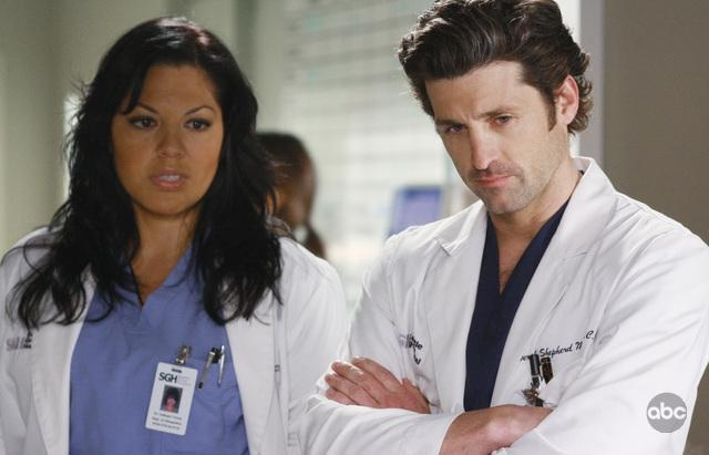 Patrick Dempsey E Sara Ramirez Nell Episodio These Ties That Bind Della Serie Tv Grey S Anatomy 94698