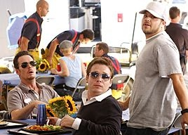 Kevin Dillon, Kevin Connolly e Jerry Ferrara in una sequenza dell'episodio 'Pie' di Entourage