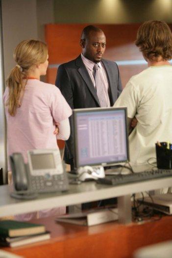 Omar Epps in una scena dell'episodio Emancipation di Dr. House: Medical Division