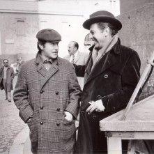 Vittorio Salerno con il fratello Enrico Maria sul set di 'No, il caso è felicemente risolto!'