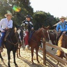 William Shatner e James Spader insieme a un collega nell'episodio 'Happy Trails' della serie tv Boston Legal
