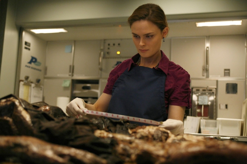Emily Deschanel In Un Momento Dell Episodio The Passenger In The Oven Della Serie Tv Bones 95034