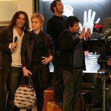Margherita Buy con Pino Quartullo in una scena della serie televisiva Amiche mie