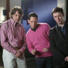 Massimo Molea, Lorenzo Lavia e Marco Cortesi nella serie televisiva Amiche mie