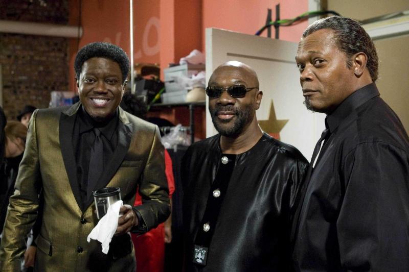 Bernie Mac Isaac Hayes E Samuel L Jackson Sul Set Del Film Soul Men 95149