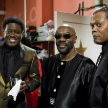 Bernie Mac, Isaac Hayes e Samuel L. Jackson sul set del film Soul Men