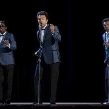 Bernie Mac, John Legend e Samuel L. Jackson in una scena del film Soul Men