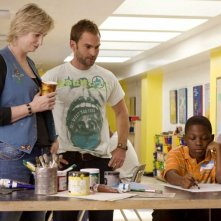 Jane Lynch, Seann William Scott e Bobb'e J. Thompson in una scena del film Role Models