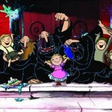 Un'immagine del film d'animazione Tiffany e i tre briganti