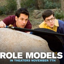 Un wallpaper del film Role Models con Paul Rudd e Christopher Mintz-Plasse