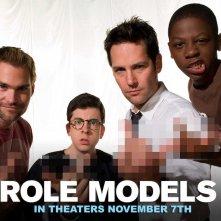 Un wallpaper del film Role Models con Seann William Scott, Christopher Mintz-Plasse, Paul Rudd e Bobb'e J. Thompson