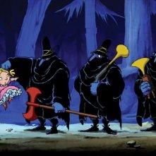 Una scena del cartoon Tiffany e i tre briganti