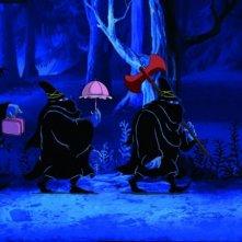 Una scena di Tiffany e i tre briganti