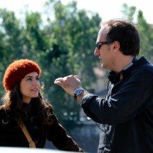 Alessandra Mastronardi e Stefano Sollima sul set di Romanzo Criminale - La serie