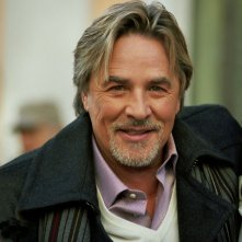 Don Johnson sul set del film Torno a vivere da solo