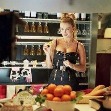 Eva Henger sul set del film Torno a vivere da solo