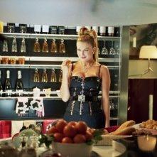 Eva Henger sul set della commedia Torno a vivere da solo