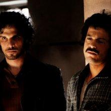 Francesco Montanari e Mauro Meconi in una scena del terzo episodio di Romanzo Criminale - La serie