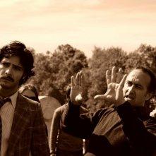 Marco Bocci e Stefano Sollima sul set di Romanzo Criminale - La serie