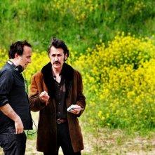 Stefano Sollima e Marco Giallini sul set della serie televisiva ispirata a Romanzo Criminale