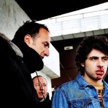 Stefano Sollima e Roberto Infascelli sul set della serie televisiva ispirata a Romanzo Criminale