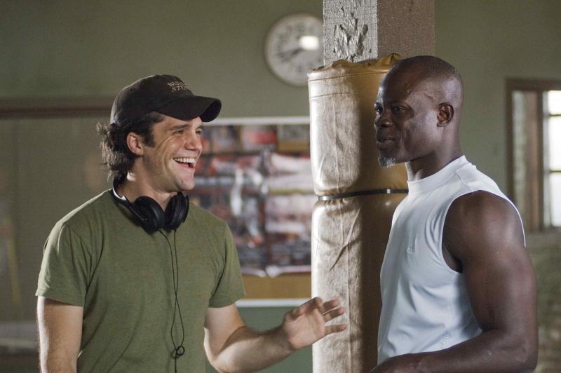 Il Regista Jeff Wadlow E Djimon Hounsou Sul Set Del Film Never Back Down 95677