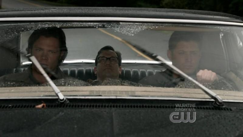 Jared Padalecki E Jensen Ackles Insieme A Ted Raimi Nell Episodio Wishful Thinking Della Quarta Stagione Di Supernatural 95751