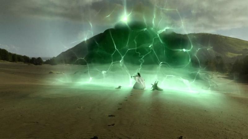 La Barriera Magica Che Divide Le Terre Occidentali Dall Impero D Haran Nella Serie Legend Of The Seeker Episodio Prophecy 95549