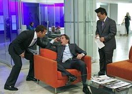 Gary Cole, Jeremy Piven e Rex Lee in una scena dell'episodio 'Seth Green Day' della quinta stagione di Entourage
