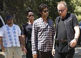 Jerry Ferrara, Kevin Dillon, Adrian Grenier e Stellan Skarsgård  in una scena dell'episodio 'Seth Green Day' della quinta stagione di Entourage