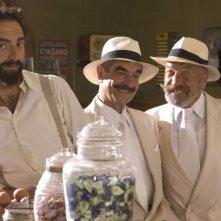 Neri Marcoré, Paolo Fiorino e Francesco Gabriele in un'immagine del film Gli amici del Bar Margherita