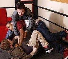Seth Green, Bow Wow e Kevin Connolly in una scena dell'episodio 'Seth Green Day' della quinta stagione di Entourage